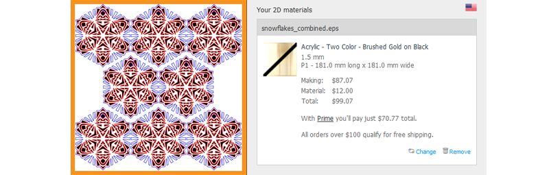 Snowflake Combined Laser Engraving Cost Comparison