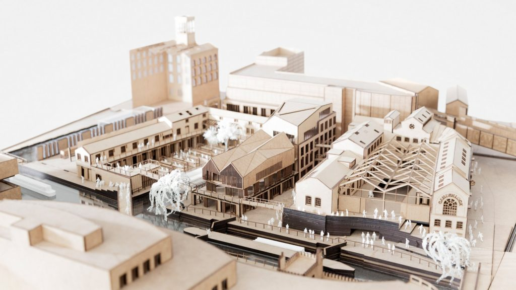 Bon White Mat Board Camden Lock Market 3D Architectural Model From Piercy U0026  Company