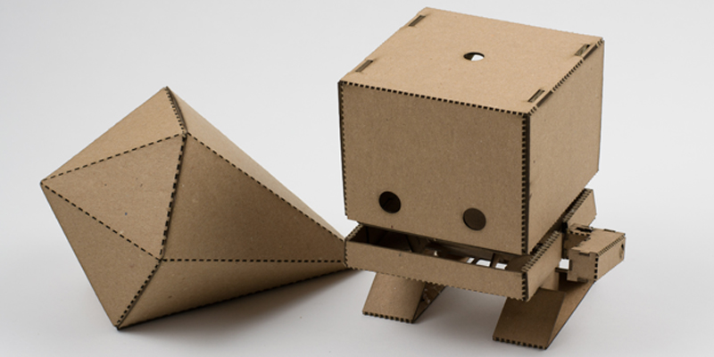 Laser Cut Natural Cardboard TJBot