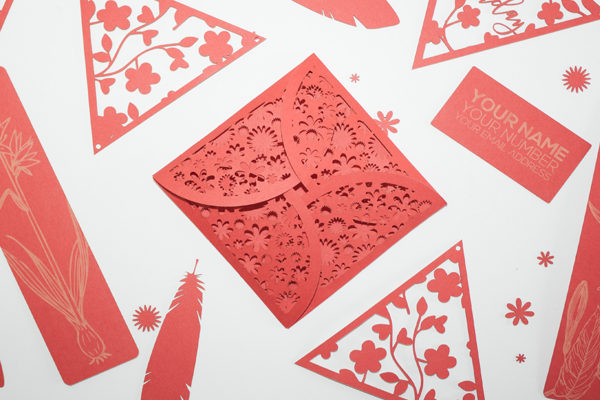 Laser Cut Red Cardstock
