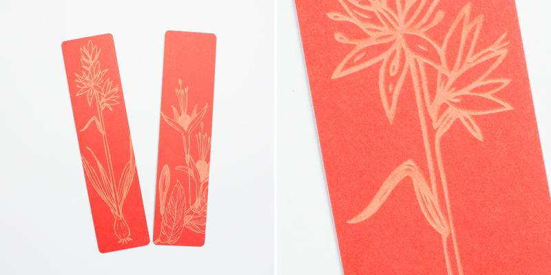 Laser Cut Red Cardstock Paper Bookmarks