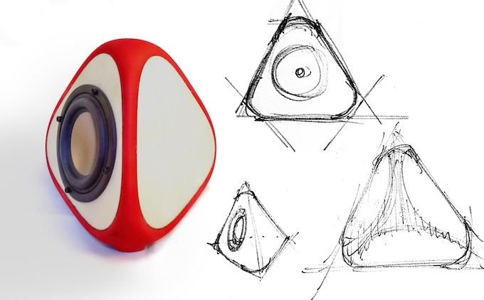 T3TRA Speakers Design Sketches