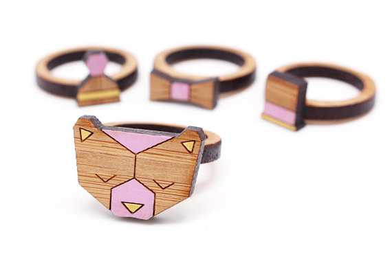 Making Jewelry - Laser Cut Wood Rings