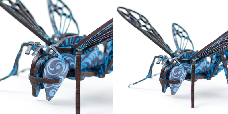 Baroque Printed MDF Blue Bug