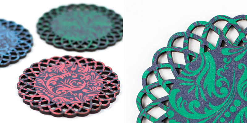 Baroque Printed MDF Coasters
