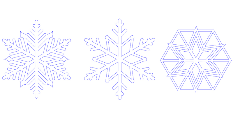 Holiday Sales Guide - Part 1 - Three Snowflake Decoration Designs