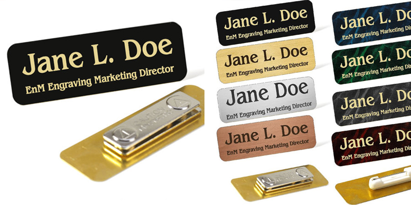 Identify yourself your guide to making custom name badges tags employee name tags solutioingenieria Choice Image