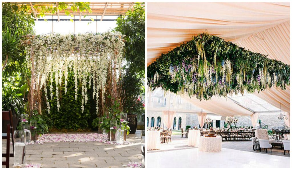 Hanging Flowers Wedding Decorations