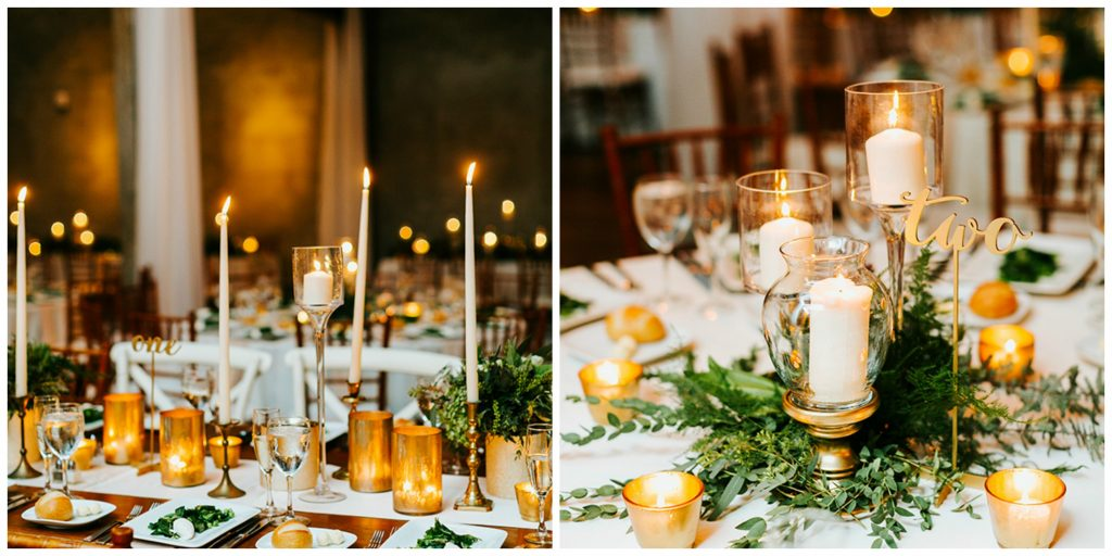 Gold Wedding Centerpieces
