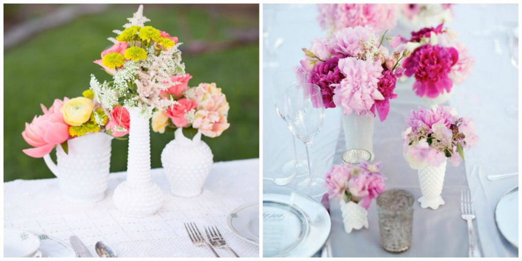Milk Glass Wedding Centerpieces