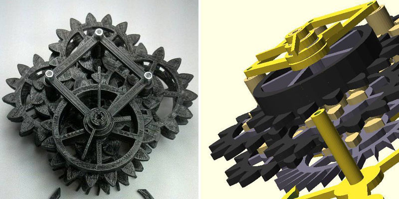 Make A Clock 3 - 3D Printed