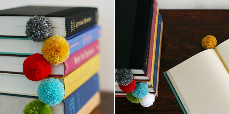Make Bookmarks - Pom Pom