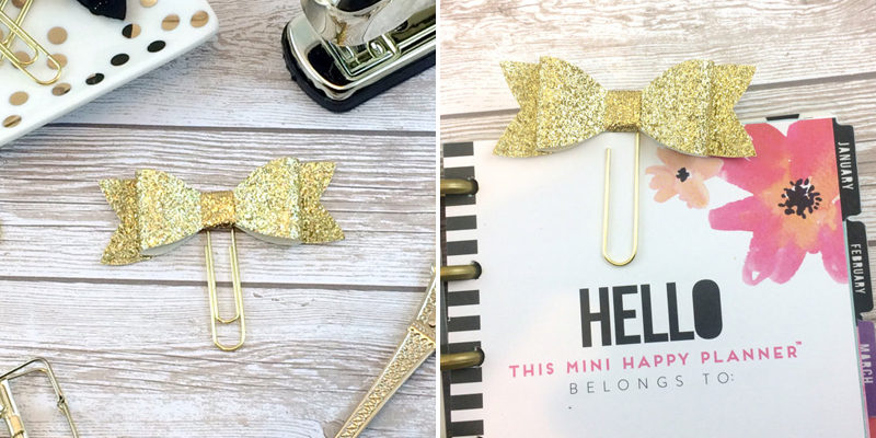 Make Bookmarks - Paper Clip Bow