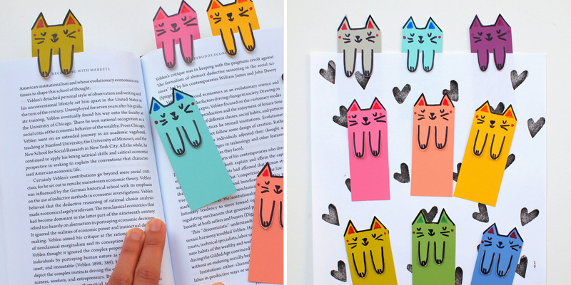 Make Bookmarks - Paper Cats