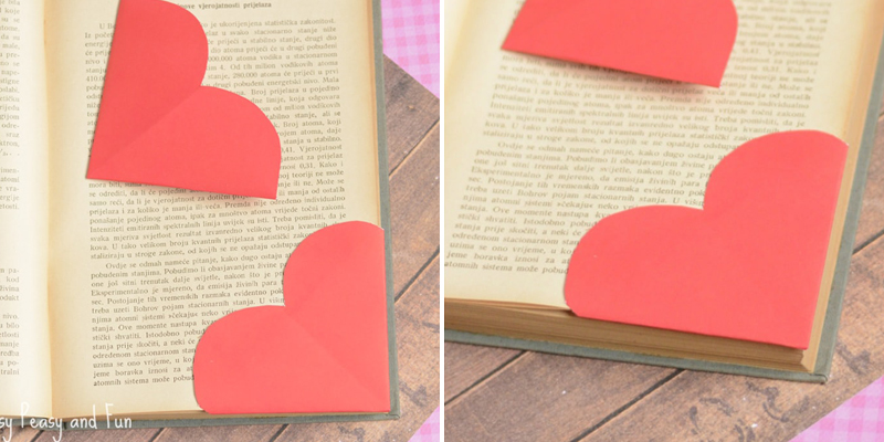 Make Bookmarks - Corner Hearts