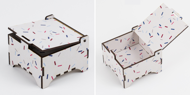 Printed MDF - Bespeckled Box