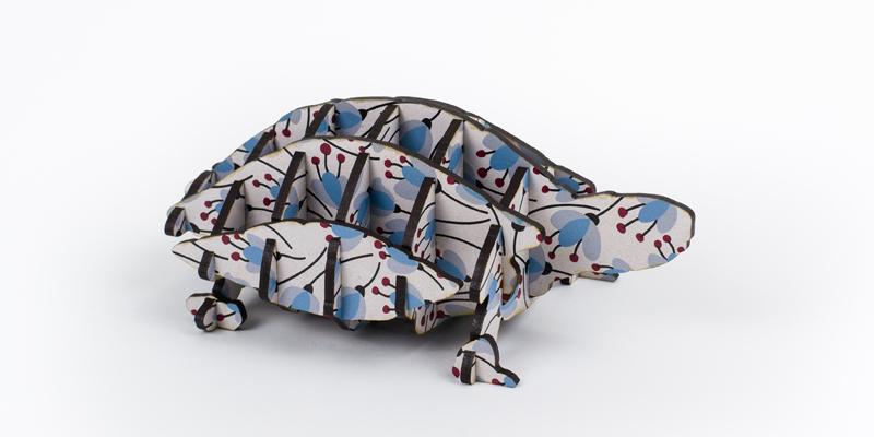 Printed MDF - Botanic Turtle