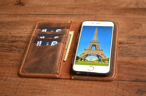 etsy leather iphone case