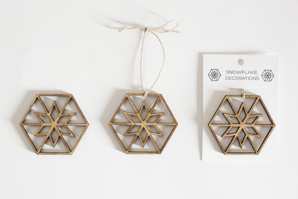 Holiday Gifts - Laser Cut Snowflake
