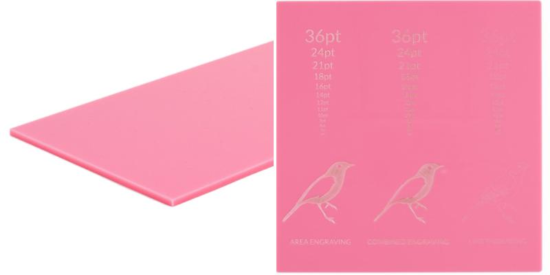 Pastel Acrylics Pink Sheet