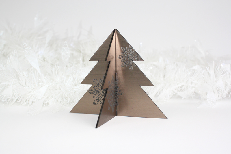 Bronze On Black Acrylic 4 - Christmas Tree