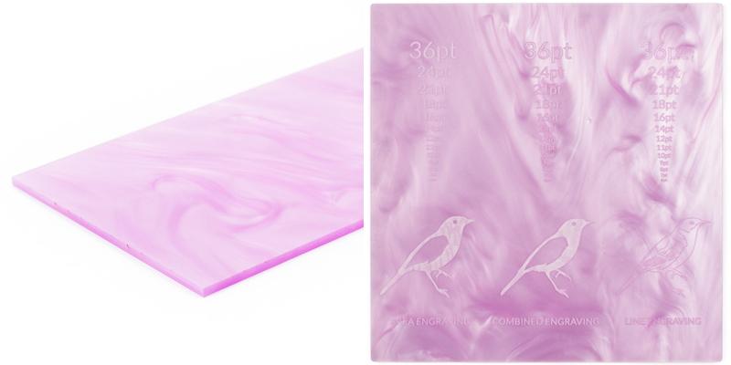 Lavender Swirl Acrylic Sheet