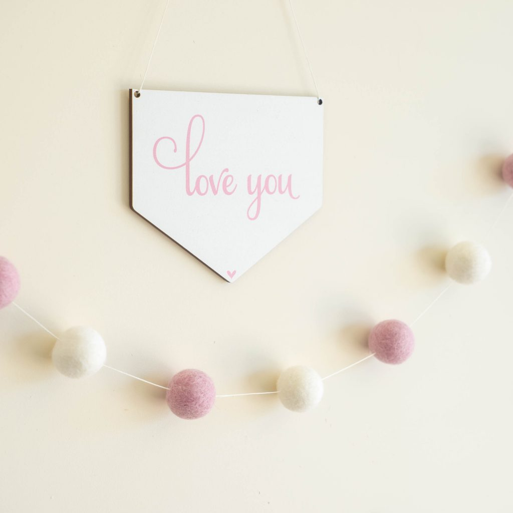 2017 Review 15 - Digital Printed Materials Love You Wall Hanging