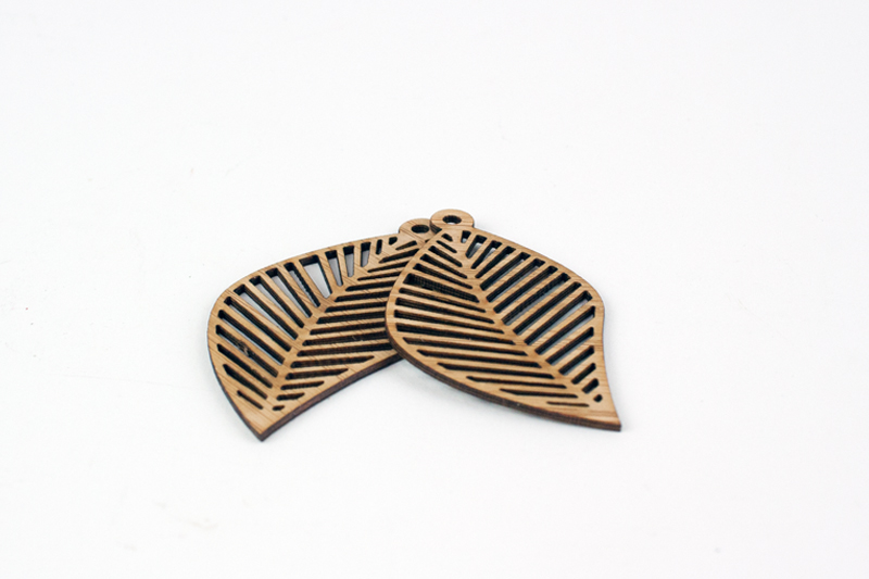 Bamboo 4 - Leaf Earrings