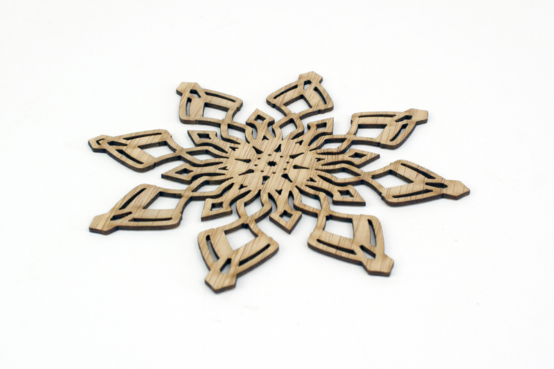 Bamboo 9 - Snowflake Decoration
