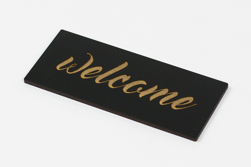 Coated MDF 1 - Black Sign