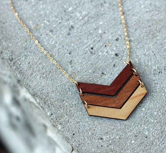 Laser Cut Products 03 - CompanyKind Chevron Necklace