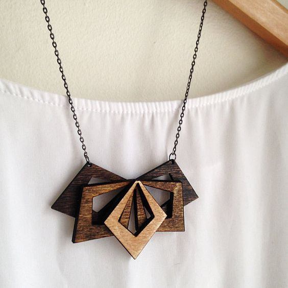 Laser Cut Products 04 - Alyson Prete Wood Necklace