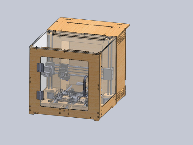 Laser Cut Products 17 - Prusa 3D Printer Case