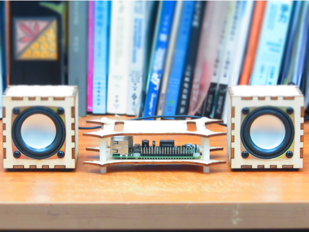 Laser Cut Products 21 Raspberry Pi Mini HiFi Speakers