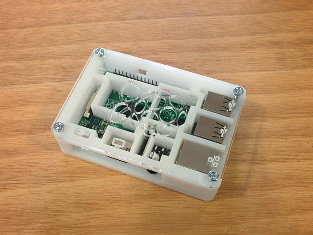 Laser Cut Products 23 - Engraved Raspberry Pi Case