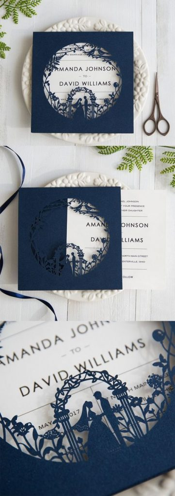 Laser Cut Products 27 - Stylish Wedd Garden Style Invitations