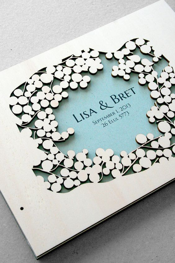 Laser Cut Products 29 - Wedding Book Cover