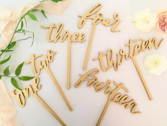 Laser Cut Products 30 - LettersToYou Table Numbers