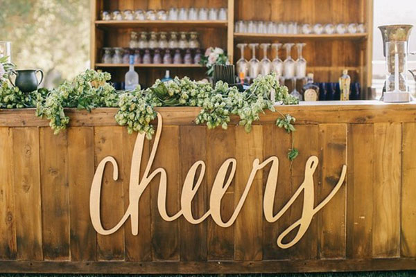 Laser Cut Products 31 - Cheers Wedding Sign