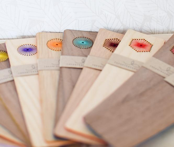 Laser Cut Products 35 - Embroidered Wood Bookmarks