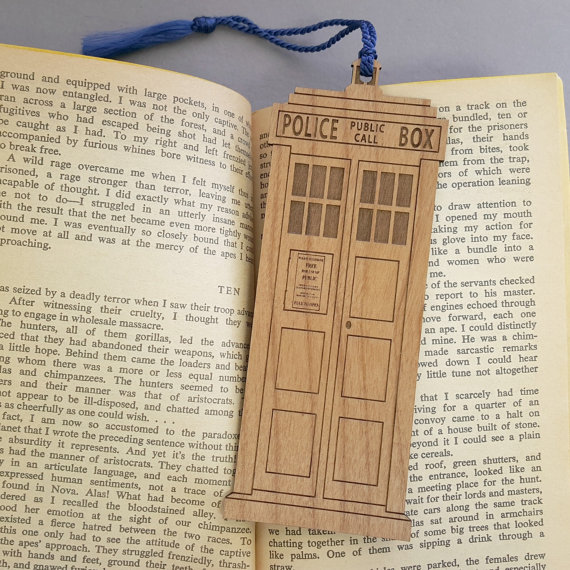 Laser Cut Products 39 - VectorEngraving TARDIS Bookmark