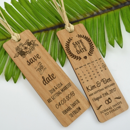 Laser Cut Products 40 - Save The Date Bookmarks