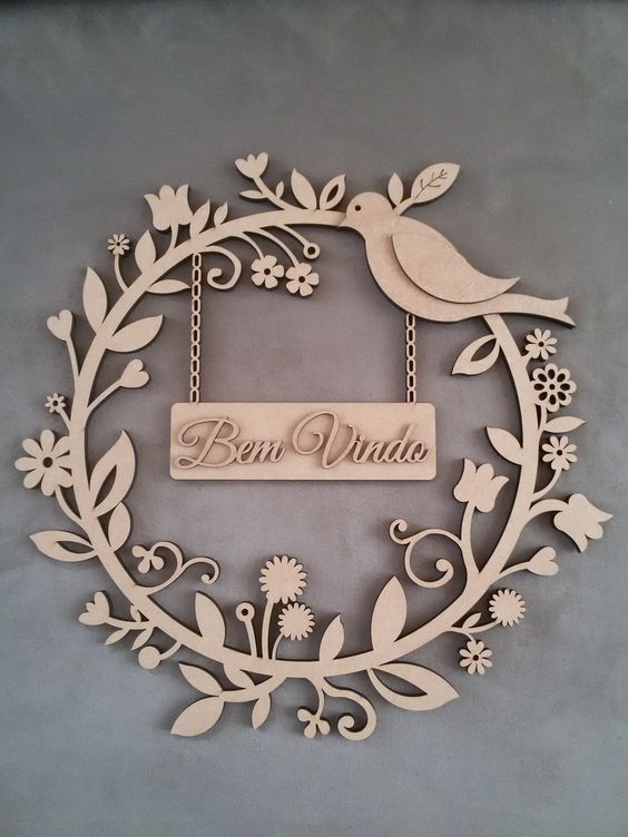 Laser Cut Products 46 - Decorative Garland Sign