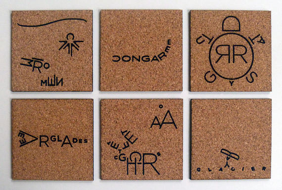 Make Your Own Coasters 2 - Nine Day Weekend Cork Coasters