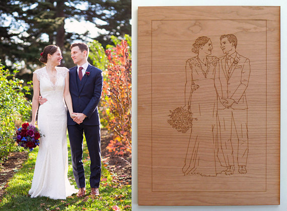 Make Your Own Coasters 4 - Nine Day Weekend Wedding Portrait