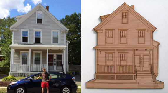 Make Your Own Coasters 5 - Nine Day Weekend House Portrait