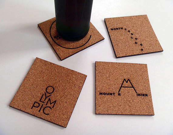 make your own coasters 6 nine day weekend cork coasters