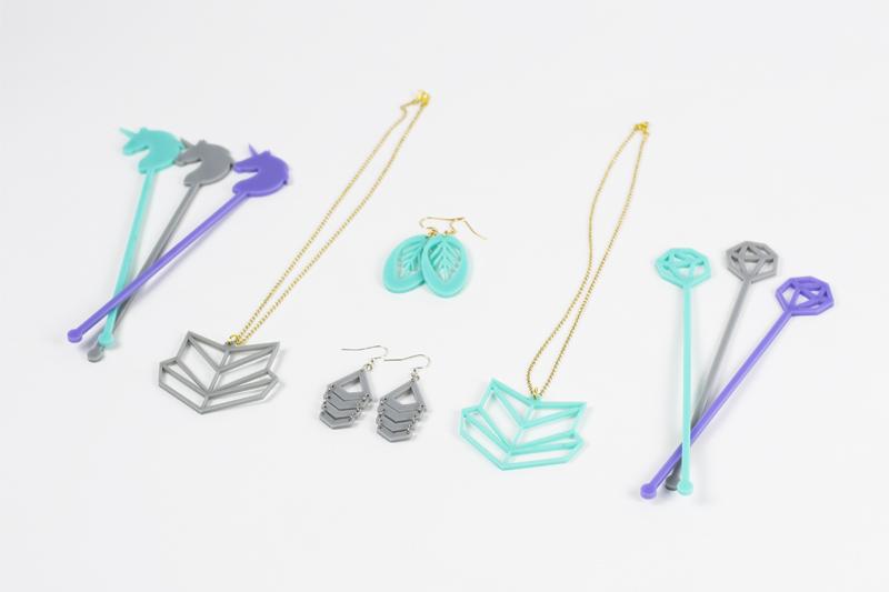 1 Lavender - Aquamarine - Stone Acrylic