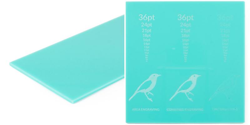 10 Turquoise Acrylic sheet