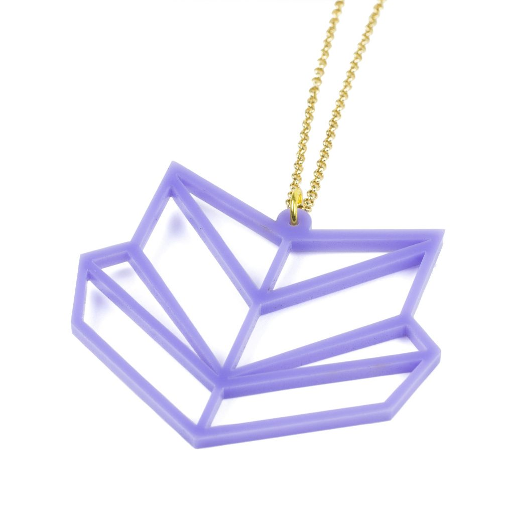 2 Purple Acrylic Sheet - Chevron Necklace